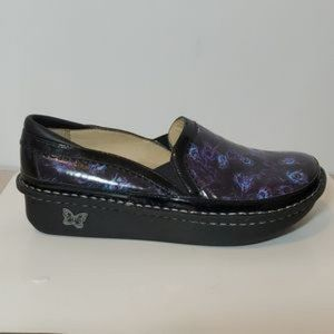 Alegria Slip-on Shoes Peacock Feather
